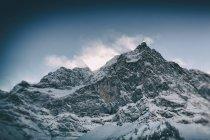 Австрия, Тироль, Карвендель, вид снег покрыты Spritzkarspitze — стоковое фото