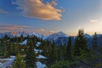 Мальовничим видом Hochschwab спектра в alp захід сонця, Sonnschien, Tragoess, Штирія, Австрія — стокове фото
