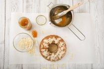 Итальянский миндаль кольцо торт, низким carb — стоковое фото