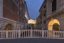 Італія, Венеція, міст Зітхань — стокове фото