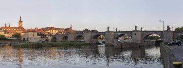 Germany, Bavaria, Wuerzburg, view of Old Main Bridge at main river — Stock Photo