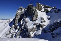 Vue de Westliche Karwendelspitze et massif des Karwendel, Bavière, Allemagne — Photo de stock