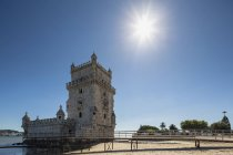 Portugal, Lisbon, View of Belem Tower in sunny daytime — Stock Photo