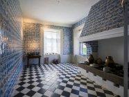 Germany, Eutin, Eutin Castle, Inerior of historic kitchen — Stock Photo
