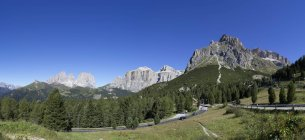 Italien, Südtirol, Pordoipass tagsüber — Stockfoto