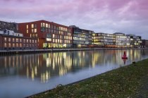 Alemania, Munster, vista del puerto de la ciudad - foto de stock