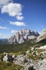 Italy, Veneto, Valparola Pass, Fanes Group, Piz dles Cunturines — Stock Photo