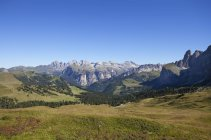 Italy, South Tyrol, View from Sella Pass  during daytime — Stock Photo