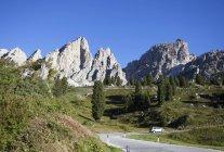 Itália, Tirol Meridional, Passe Gardena e grupo Puez — Fotografia de Stock