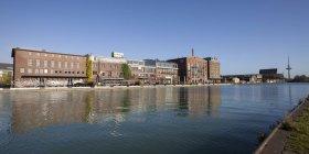 Germania, Renania Settentrionale-Vestfalia, Muenster, porto, magazzino e galleria d'arte — Foto stock