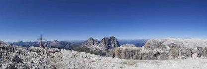 Itália, Trentino, Belluno, espantosa em Sass Pordoi — Fotografia de Stock
