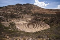 Peru, Moray, Incan agricultural terraces  during daytime — Stock Photo