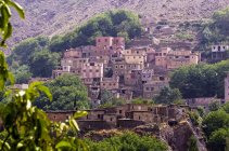 Marruecos, Marrakech-Tensift-El Haouz, Asentamiento cerca de Imlil - foto de stock