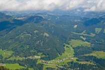 Austria, Allgaeu Alps, Vorarlberg, View from Fellhorn to Kleinwalsertal — стокове фото
