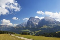 Italien, Südtirol, Seiseralm und Langkofel Gruppe — Stockfoto