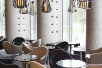 Blick auf Interieur im Hotellounge — Stockfoto