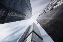 Deutschland, Hessen, Frankfurt, Hochhäuser Skyper und Silberturm, Langzeitbelichtung — Stockfoto