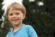 Portrait of smiling little boy — Stock Photo
