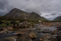 Regno Unito, Scozia, Glen Coe, vista Buachaille Etive Mor — Foto stock