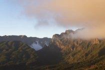 Spain, Canary Islands, La Palma, Caldera de Taburiente in the evening — Stock Photo