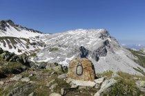 Австрия, Форарльберг, Ratschenfluh горы в группе Madrisa, вид в Швейцарию — стоковое фото