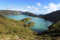 Portugal, Azores, Sao Miguel, Lago di Fogo, lago del cráter - foto de stock