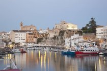 View of Ciutadella with town hall — Stock Photo