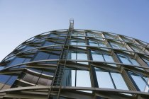 Bottom view of modern building at daytime, Munich Westend, Bavaria, Germany — Stock Photo