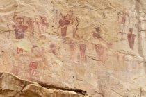 USA, Utah, rock peinture à Sego Canyon pétroglyphes — Photo de stock
