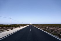 Portugal, Sagres, View of empty road during daytime — Stock Photo