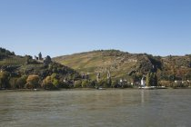 Mountains with River Rhine — Stock Photo