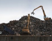 Germany, Hamburg, Recycling yard scrap metal — Stock Photo