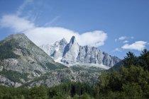 Francia, vista del Monte bianco durante il giorno — Foto stock