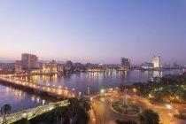 Egypt, Cairo, View of bridge with River Nile — Stock Photo