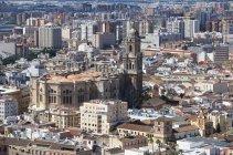 Paisaje urbano y la Catedral de Málaga - foto de stock
