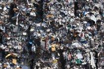 Vista do lixo compactado, quadro completo — Fotografia de Stock