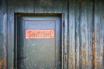 Austria, Door detail of beach bar at Zell am Moos — Stock Photo