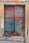 Spain, Colorful wooden door — Stock Photo