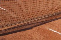 Rete sul campo da tennis sabbioso a Monaco di Baviera, Germania — Foto stock