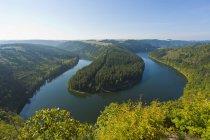 Германия, Тюрингия, аэрофотоснимок Saaleschleife озеро — стоковое фото