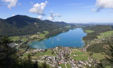 Town and Fuschlsee Lake — Stock Photo