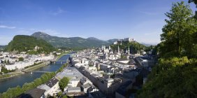 Austria, Salzburg, View of town with river at daytime — Stock Photo