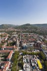 Germany, Thuringia, aerial view of Jena cityscape — Stock Photo