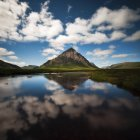 UK, Scotland, View of Buachaille Etive Mor — Stock Photo
