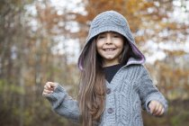 Portrait of Girl smiling outdoors — Stock Photo