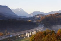 Motorway with Zugspitze mountain — Stock Photo