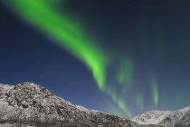 Aurora Borealis около Тромсё — стоковое фото