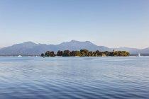 Germany, Bavaria, Upper Bavaria, Chiemgau, View of Lake Chiemsee — Stock Photo