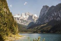 Austria, Gosau, mountain lake and glacier during daytime — Stock Photo