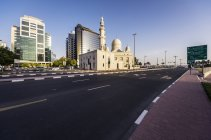 UAE, Dubai, Mosque at Al Maktoum Roand during daytime — Stock Photo